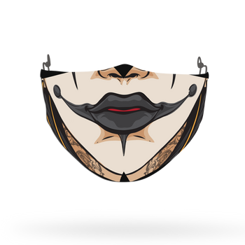 Clown Mask Theme Face Covering Print 5