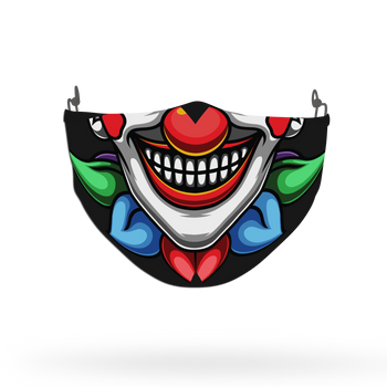Clown Mask Theme Face Covering Print 7