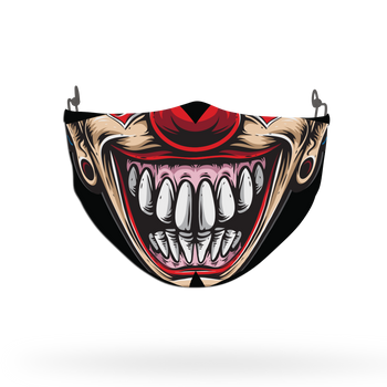 Clown Mask Theme Face Covering Print 8