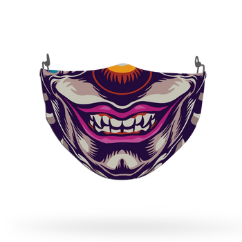 Clown Mask Theme Face Covering Print 9