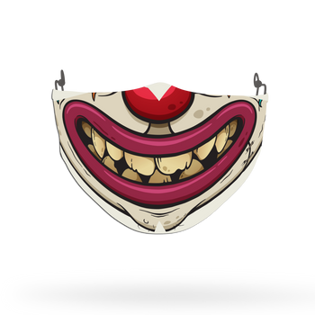 Clown Mask Theme Face Covering Print 10