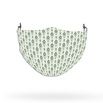 Peacock Animal Pattern Face Covering Print 2