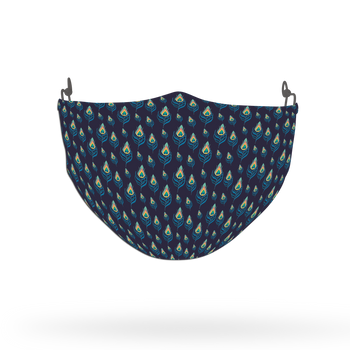 Peacock Animal Pattern Face Covering Print 3