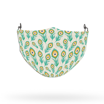 Peacock Animal Pattern Face Covering Print 7