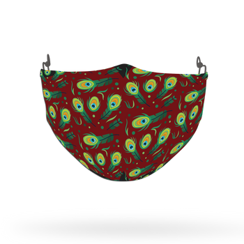 Peacock Animal Pattern Face Covering Print 9