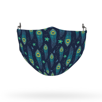 Peacock Animal Pattern Face Covering Print 10