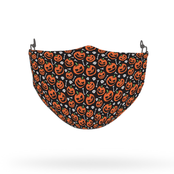 Terrifying Halloween Pattern Face Covering Print 4