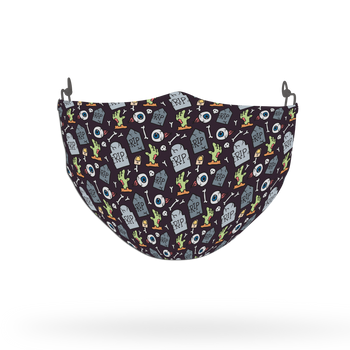 Terrifying Halloween Pattern Face Covering Print 5