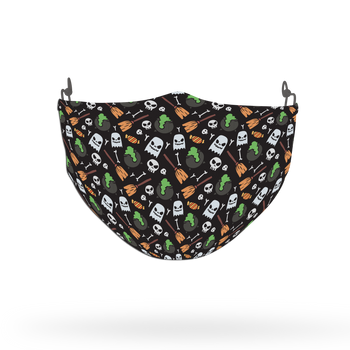 Terrifying Halloween Pattern Face Covering Print 6