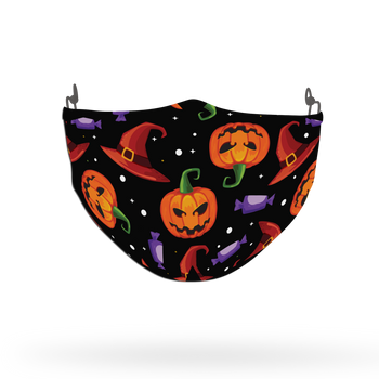 Terrifying Halloween Pattern Face Covering Print 7