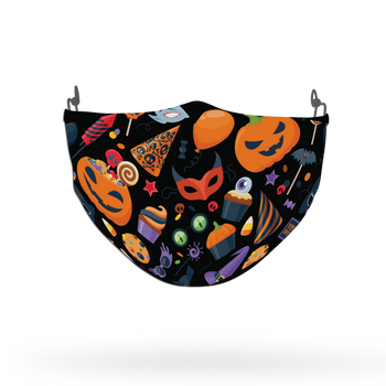 Terrifying Halloween Pattern Face Covering Print 8
