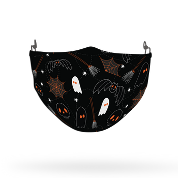 Terrifying Halloween Pattern Face Covering Print 10