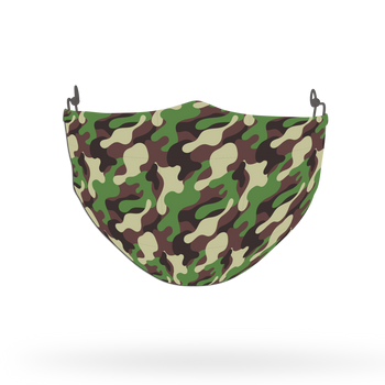 Camouflage Pattern Face Covering Print 2