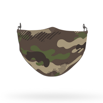 Camouflage Pattern Face Covering Print 10