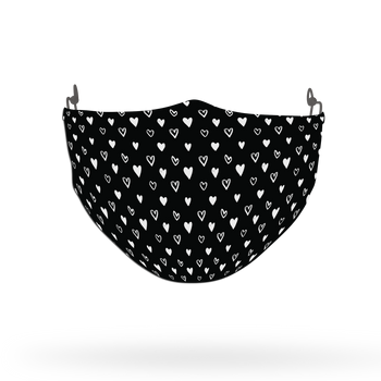Heart Pattern Face Covering Print 30