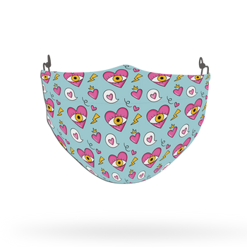 Heart Pattern Face Covering Print 40