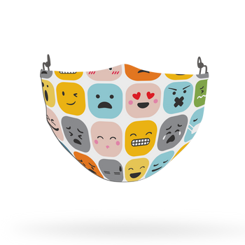 Emoji Pattern Face Covering Print 13