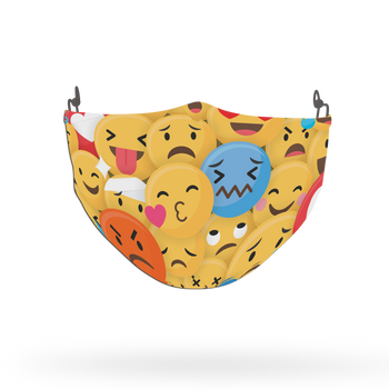 Emoji Pattern Face Covering Print 14