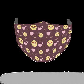 Emoji Pattern Face Covering Print 17