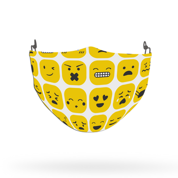 Emoji Pattern Face Covering Print 28