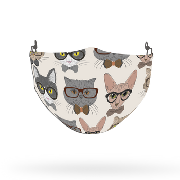 Cat Pattern Face Covering Print 10