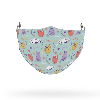 Cat Pattern Face Covering Print 12