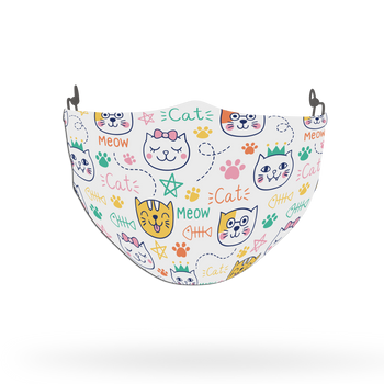 Cat Pattern Face Covering Print 20
