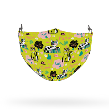 Cat Pattern Face Covering Print 21