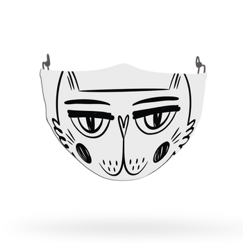Cat Pattern Face Covering Print 25