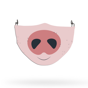 Kids Pig Face Covering Print