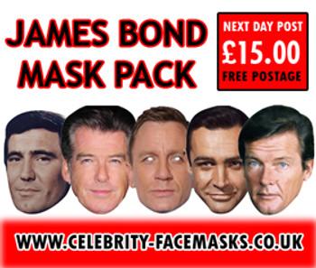 Special Bulk James Bond Mask Pack