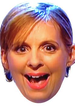 Mel From Great British Bake Off Smiley Celebrity Face Mask