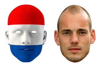 Netherlands World Cup Face Mask Pack Sneijder
