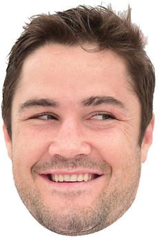 Brad Barrett England Rugby 2018 Celebrity Face Mask