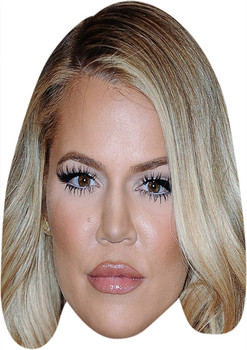 Khloe Kardashian Blonde Celebrity Face Mask