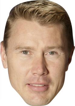 Mika Hakkinen Celebrity Face Mask Party Mask