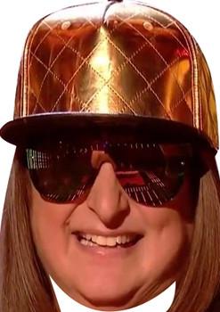Honey G Gold Hat X Factor Celebrity Party Mask