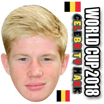 Kevin De Bruyne Belgium Football World Cup 2018 Face Mask