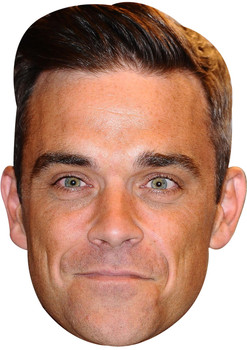 Robbie williams quiff celebrity music star celebrity face mask Fancy Dress Face Mask 2021