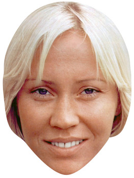 AGNETHA FALTSKOG JB - Music Star Fancy Dress Cardboard Celebrity Face Mask
