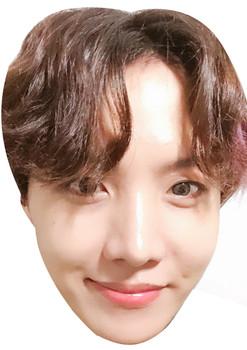 J Hope 1 - BTS Korean Music Star K POP - Music Star Fancy Dress Cardboard Celebrity Face Mask