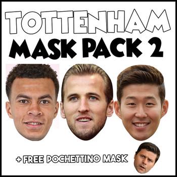 Tottenham Champions League Mask Pack 2 HARRY KANE, DELE ALI, SON HEUNG-MIN, AND FREE POCHETINO