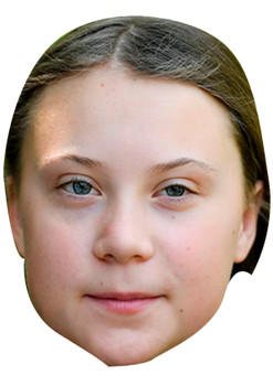 Greta Thunberg Celebrity Card Face Masks Fancy Dress Party Mask