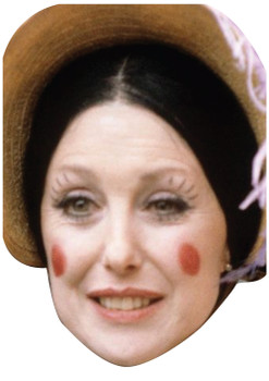 Aunt Sally Celebrity Face Mask, Perfect Cardboard party mask for fancy dress ideas