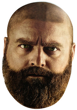 Bald Zach Galifinakis Face Mask