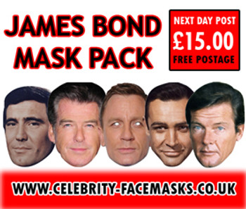Special Bulk James Bond Mask Pack