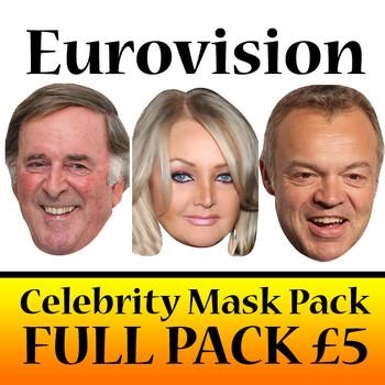Eurovision Celebrity Face Mask Pack
