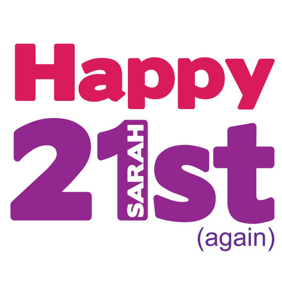 21st Again Female Birthday Card