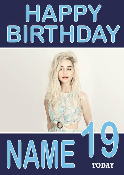 Amelia Clarke Birthday Card