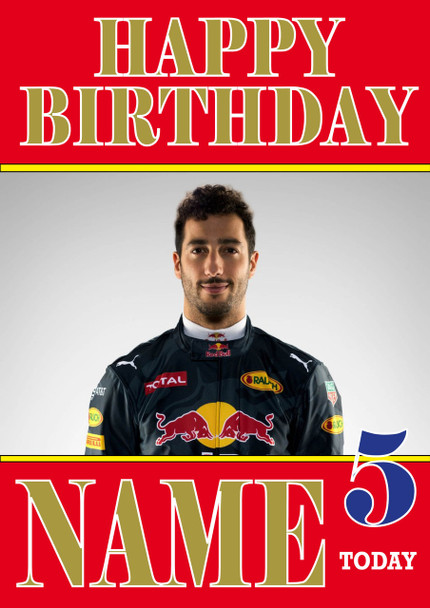 Personalised Daniel Ricciardo Birthday Card